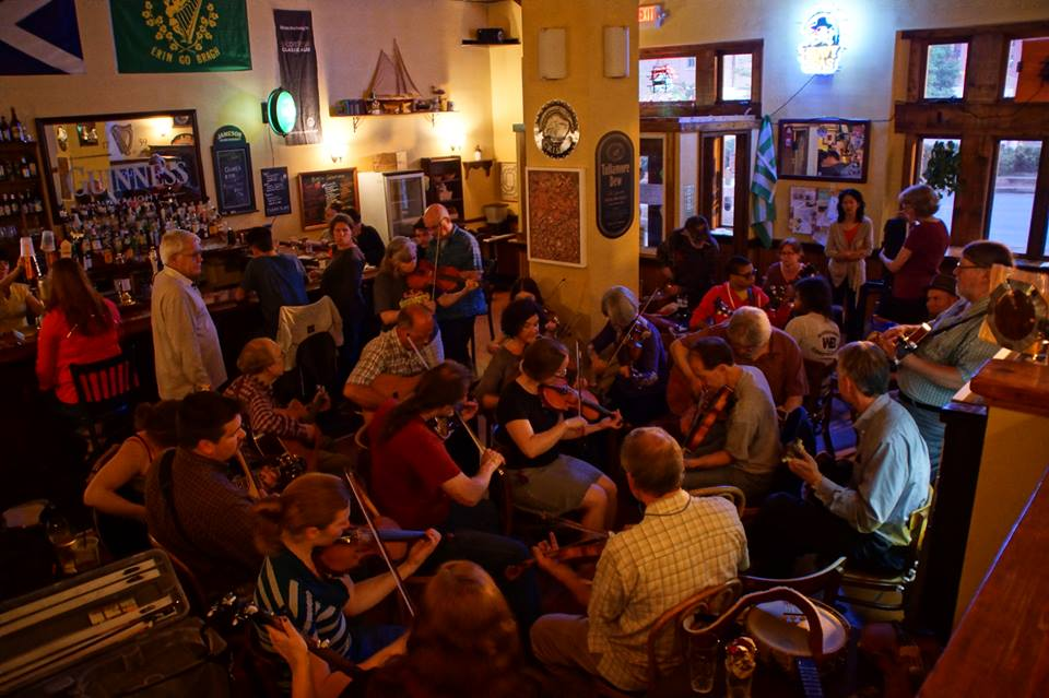 Old-time music jam at Liam O'Flynn's