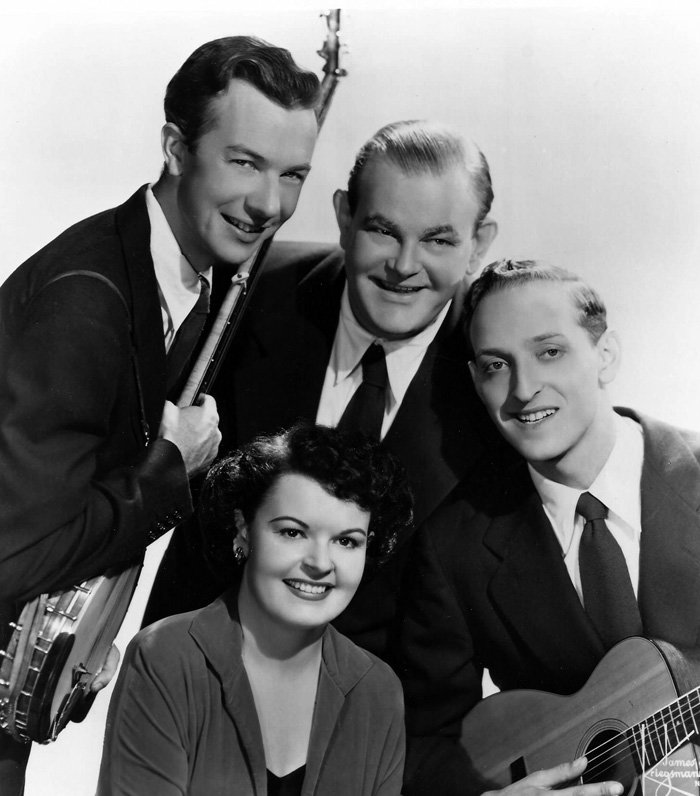 The Weavers (front: Ronnie Gilbert; rear, left to right: Pete Seeger, Lee Hays, Fred Hellerman)